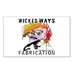 WickedWays Fabrication Rectangle Sticker