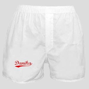 Vintage Danika (Red) Boxer Shorts