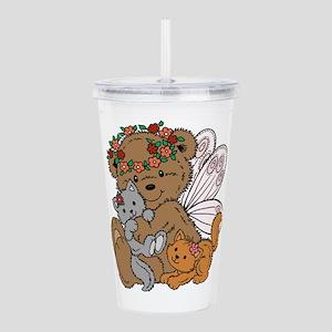 Bear Angel with Kinttens Acrylic Double-wall Tumbl