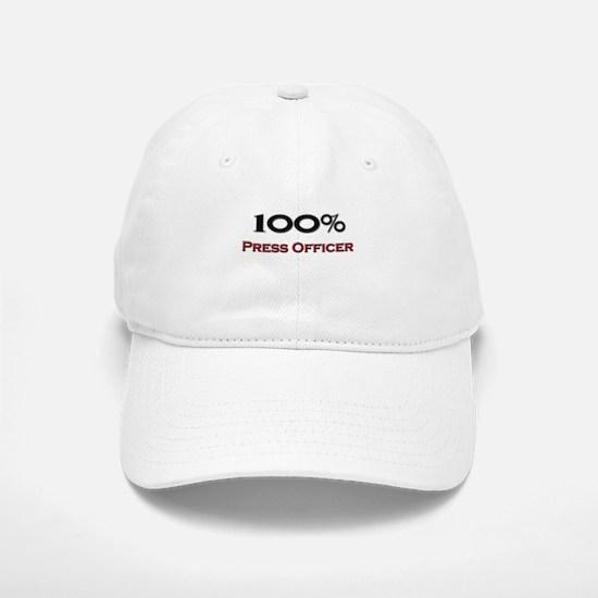 100 Percent Press Officer Baseball Baseball Cap
