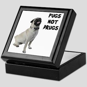 Pugs Not Drugs Keepsake Box