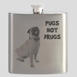 Pugs Not Drugs Flask