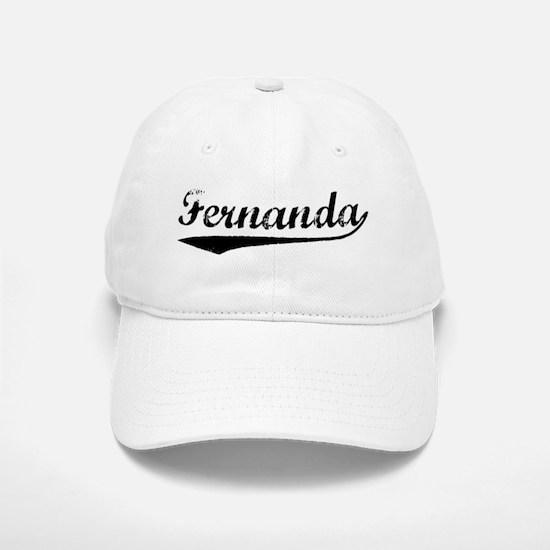 Vintage Fernanda (Black) Baseball Baseball Cap