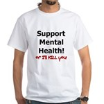 Support Mental Health White T-Shirt