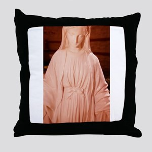 Statue of the Holy Mother Throw Pillow