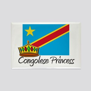 Congolese Princess Rectangle Magnet