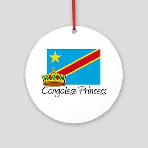 Congolese Princess Ornament (Round)