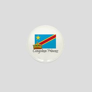 Congolese Princess Mini Button