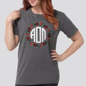 Alpha Omicron Pi Wreat Womens Comfort Colors Shirt