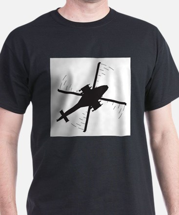 Attack helicopter Silhouette T-Shirt