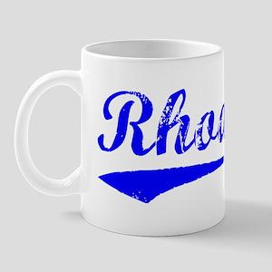 Vintage Rhodes (Blue) Mug