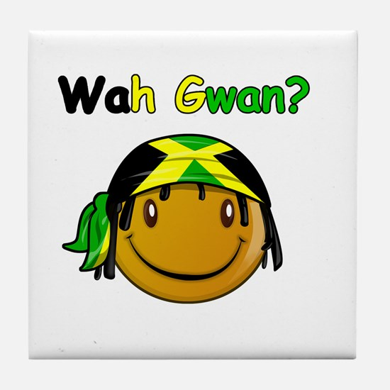 Wah Gwan? Jamaican slang Tile Coaster