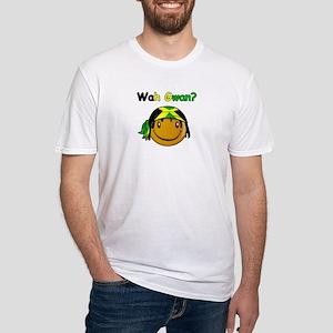 Wah Gwan? Jamaican slang Fitted T-Shirt