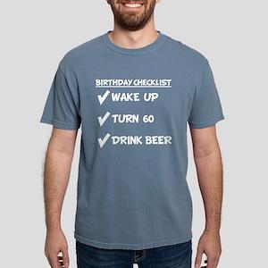 60th Birthday Checklist Drink Beer T-Shirt