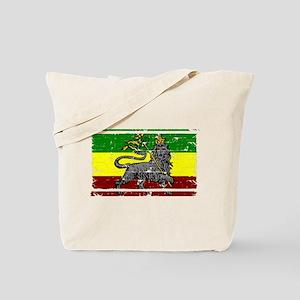 Grunge Rastafarian Flag Tote Bag
