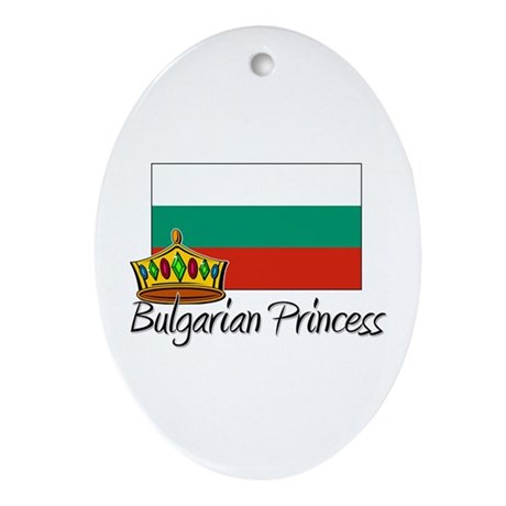 Bulgarian Princess Oval Ornament