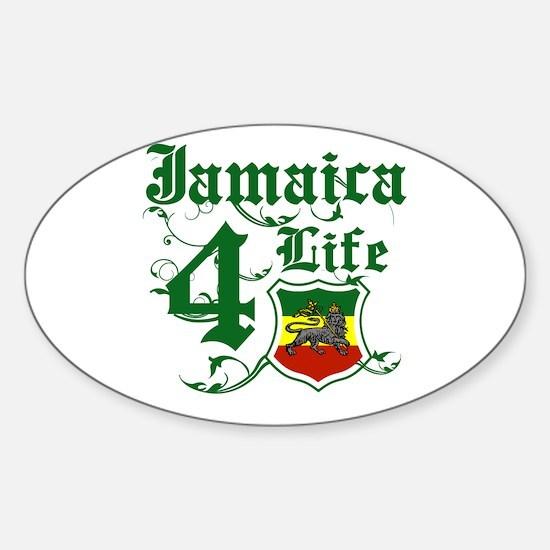 Jamaica 4 life Oval Decal