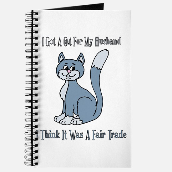 Cat For My Husband Journal