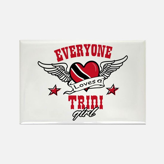 Everyone loves a Trini Girl Rectangle Magnet