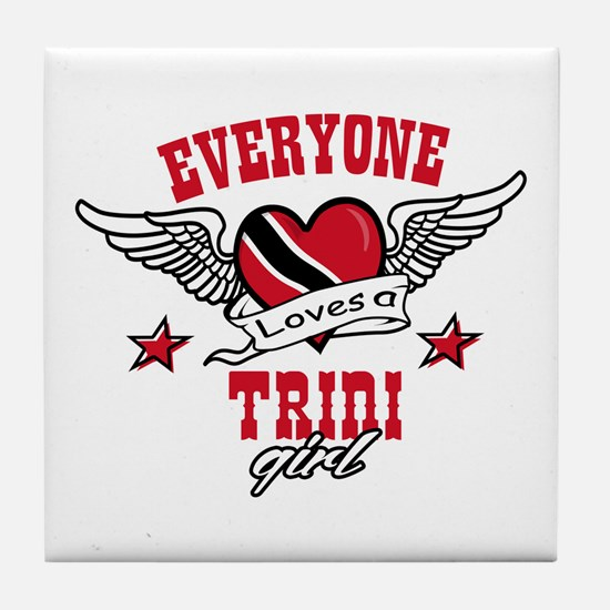 Everyone loves a Trini Girl Tile Coaster