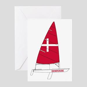 Denmark Dinghy Sailing Greeting Cards