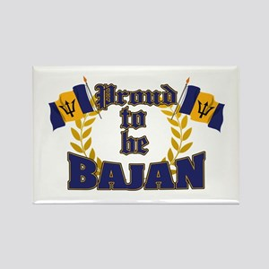 Proud to be Bajan Rectangle Magnet