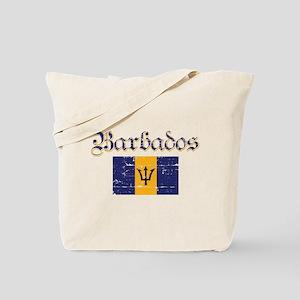Bajan distressed flag Tote Bag