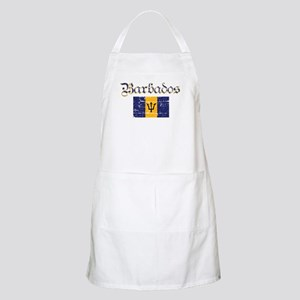Bajan distressed flag BBQ Apron