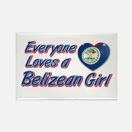Everyone loves a Belizean girl Rectangle Magnet