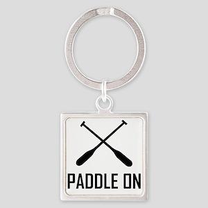 Paddle On Lake Life Keychains