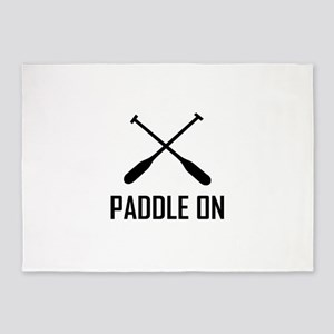 Paddle On Lake Life 5'x7'Area Rug
