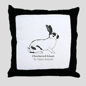Checkered Giant Throw Pillow