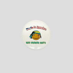 American Bahamian Mini Button