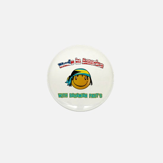 American Bahamian Mini Button
