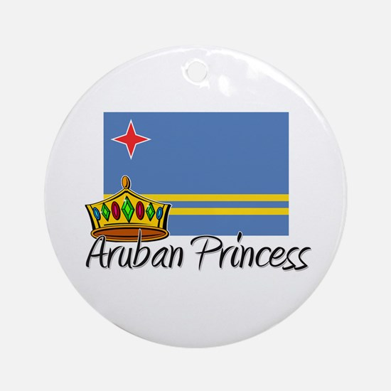 Aruban Princess Ornament (Round)