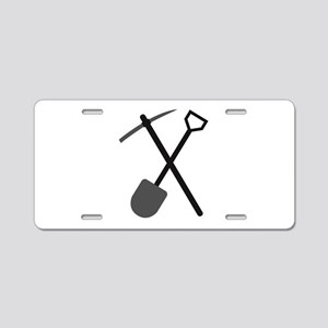 pickaxe and shovel Aluminum License Plate