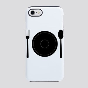 plate with cutlery iPhone 8/7 Tough Case
