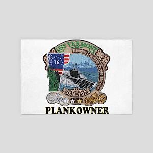 USS Vermont Plankowner 4' x 6' Rug