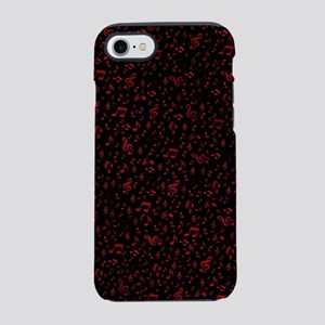 rot music notes in black bac iPhone 8/7 Tough Case