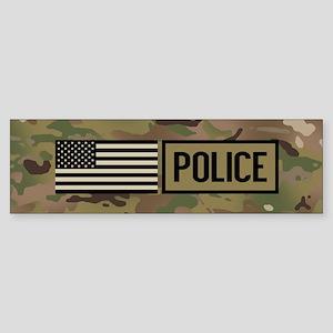Police: Camouflage Sticker (Bumper)