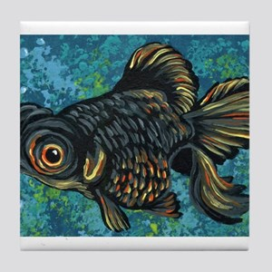 Black Moor Gold Fish Tile Coaster