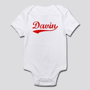 Vintage Davin (Red) Infant Bodysuit