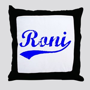 Vintage Roni (Blue) Throw Pillow