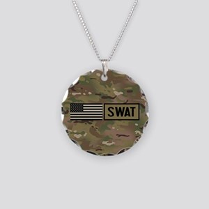 SWAT: Camouflage Necklace Circle Charm