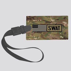 SWAT: Camouflage Large Luggage Tag