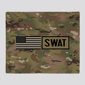 SWAT: Camouflage Throw Blanket