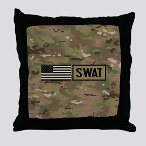 SWAT: Camouflage Throw Pillow