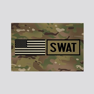 SWAT: Camouflage Rectangle Magnet