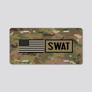SWAT: Camouflage Aluminum License Plate