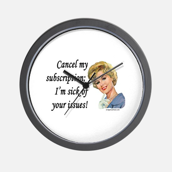 Funny Blonde Wall Clock